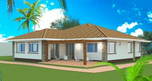 3 bedroom bungalow plan southwestern