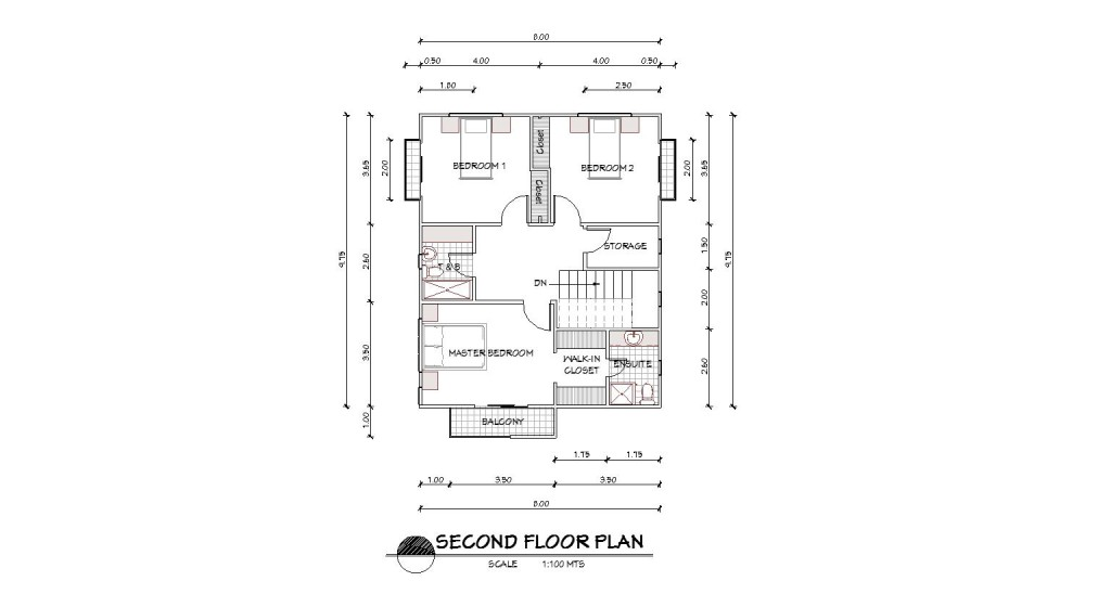 4 bedroom 2 story house design