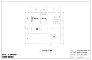 one story one bedroom modern home floor plan
