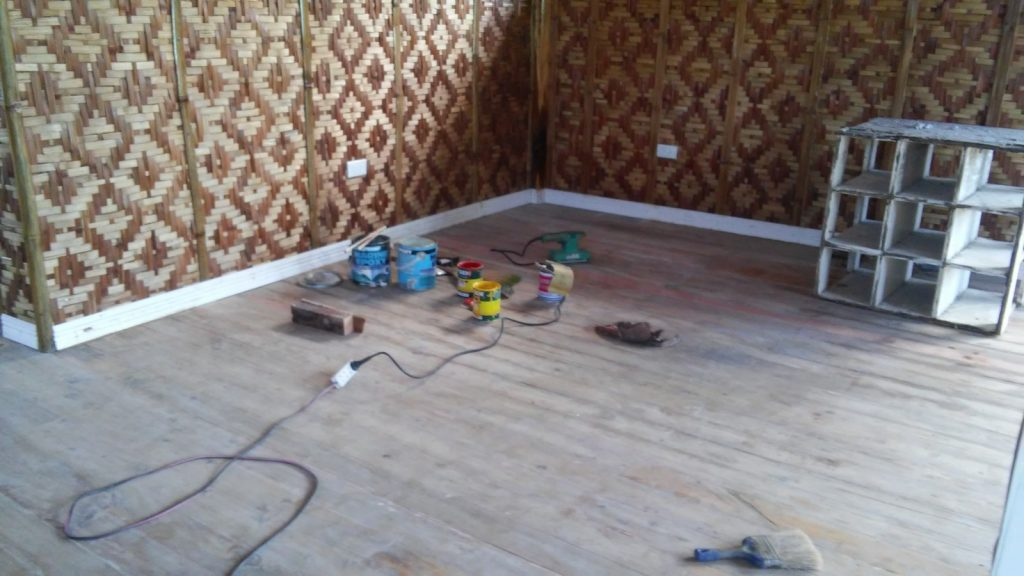 SANDING THE WOOD PLANK FLOOR AND MORE