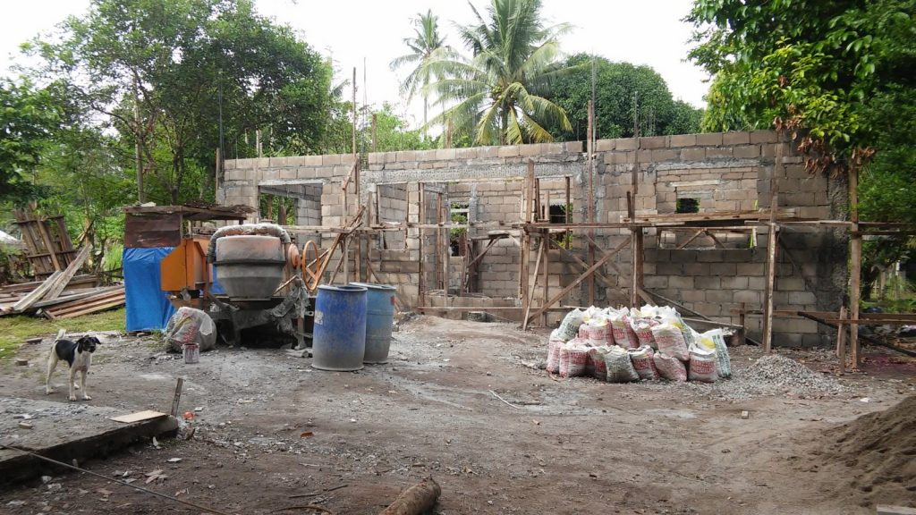 CHB WALLS AND SEPTIC TANK