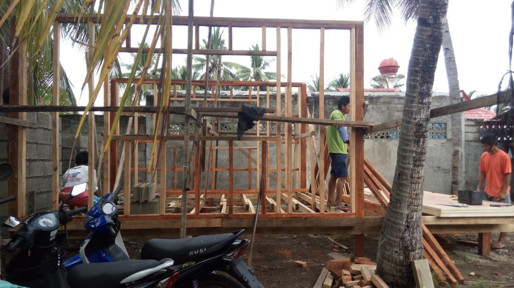 FRAMING OF NIPA HOUSE