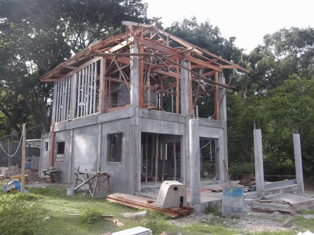 STRUCTURE NEARING COMPLETION