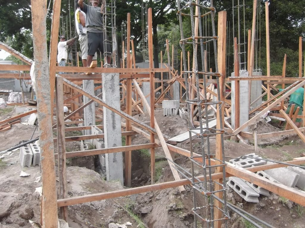 BUILDING OUR REINFORCED CONCRETE COLUMNS