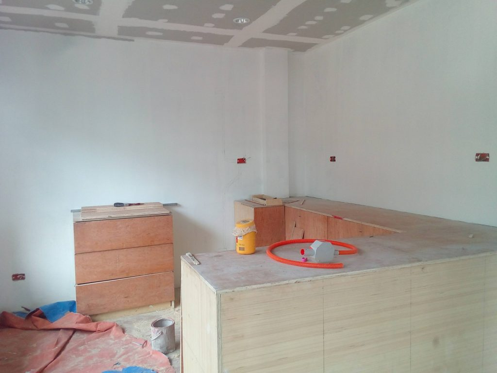 CABINETS AND TILING