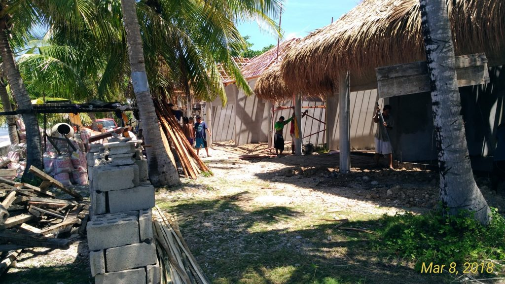 CONSTRUCTION ONGOING FEBRUARY 2018 SIQUIJOR RESORT