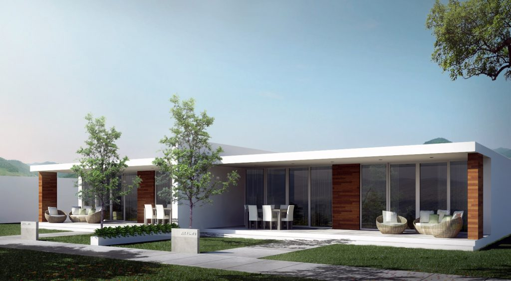 MODEL 5 - One Story, Two Bedroom Modern Home