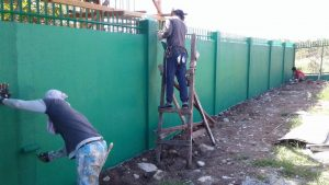 SIBULAN HOUSE- FINISHING THE FENCE AND WALL CONSTRUCTION