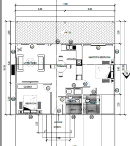 floor plan for 2 bedroom bungalow