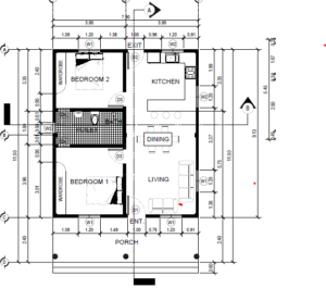 2 bedroom bungalow construction floor plan