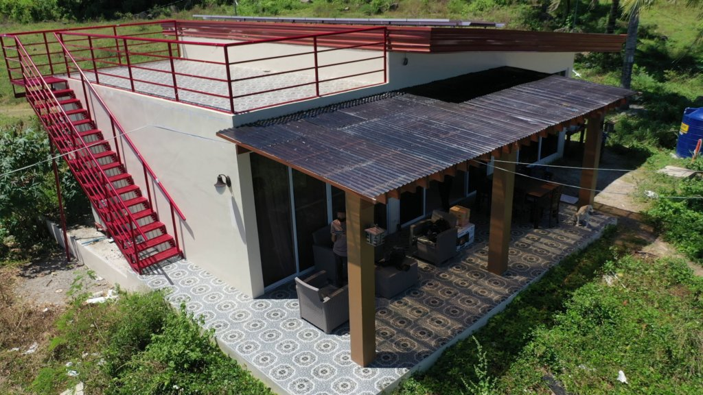 home construction with roof deck
